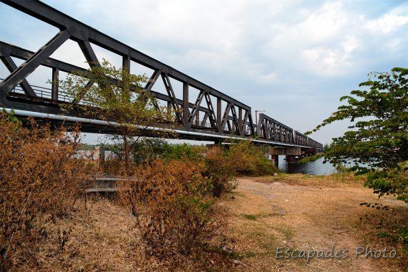 Kampot, le pont de chemin de fer