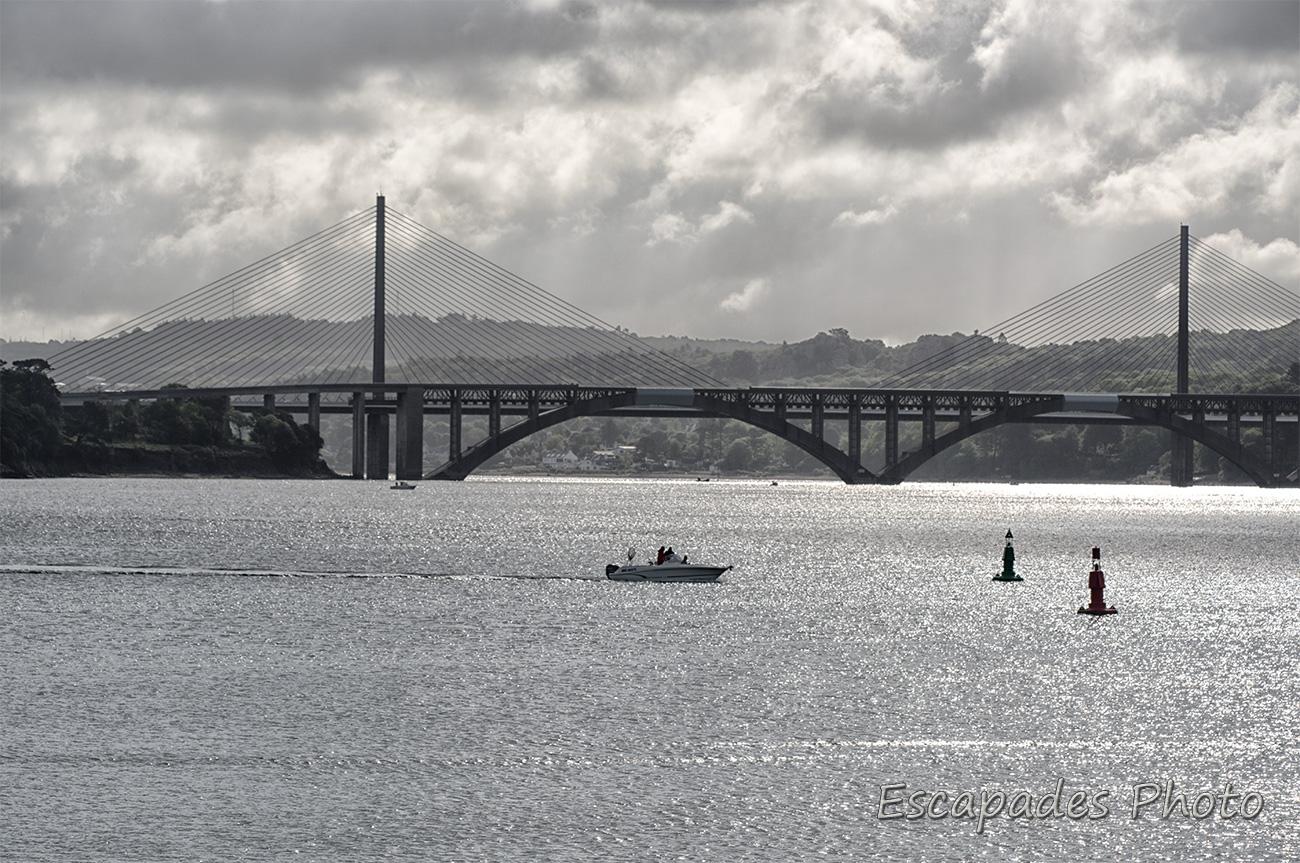 Pont de l'Iroise vue depuis la rue des petrels