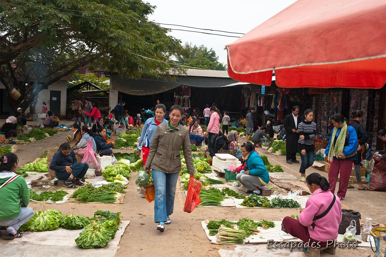 Marché de Luang Namtha - productions maraîchères