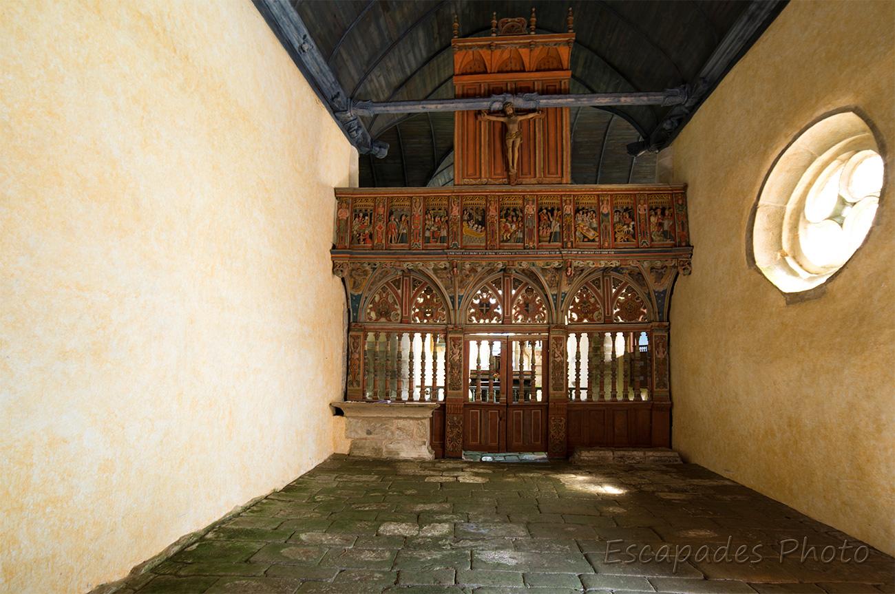 Saint Nicolas de Priziac - le jubé côté nef