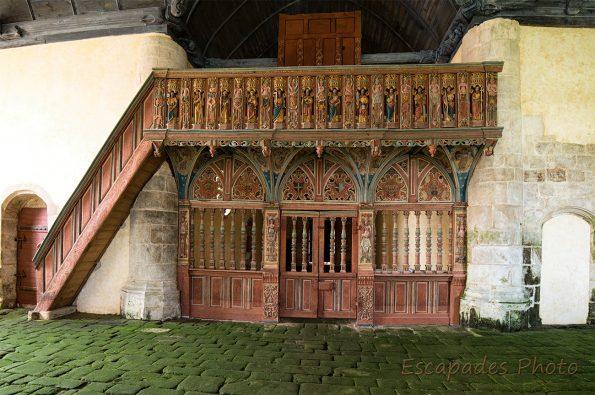 jubé de saint-Nicolas de Priziac