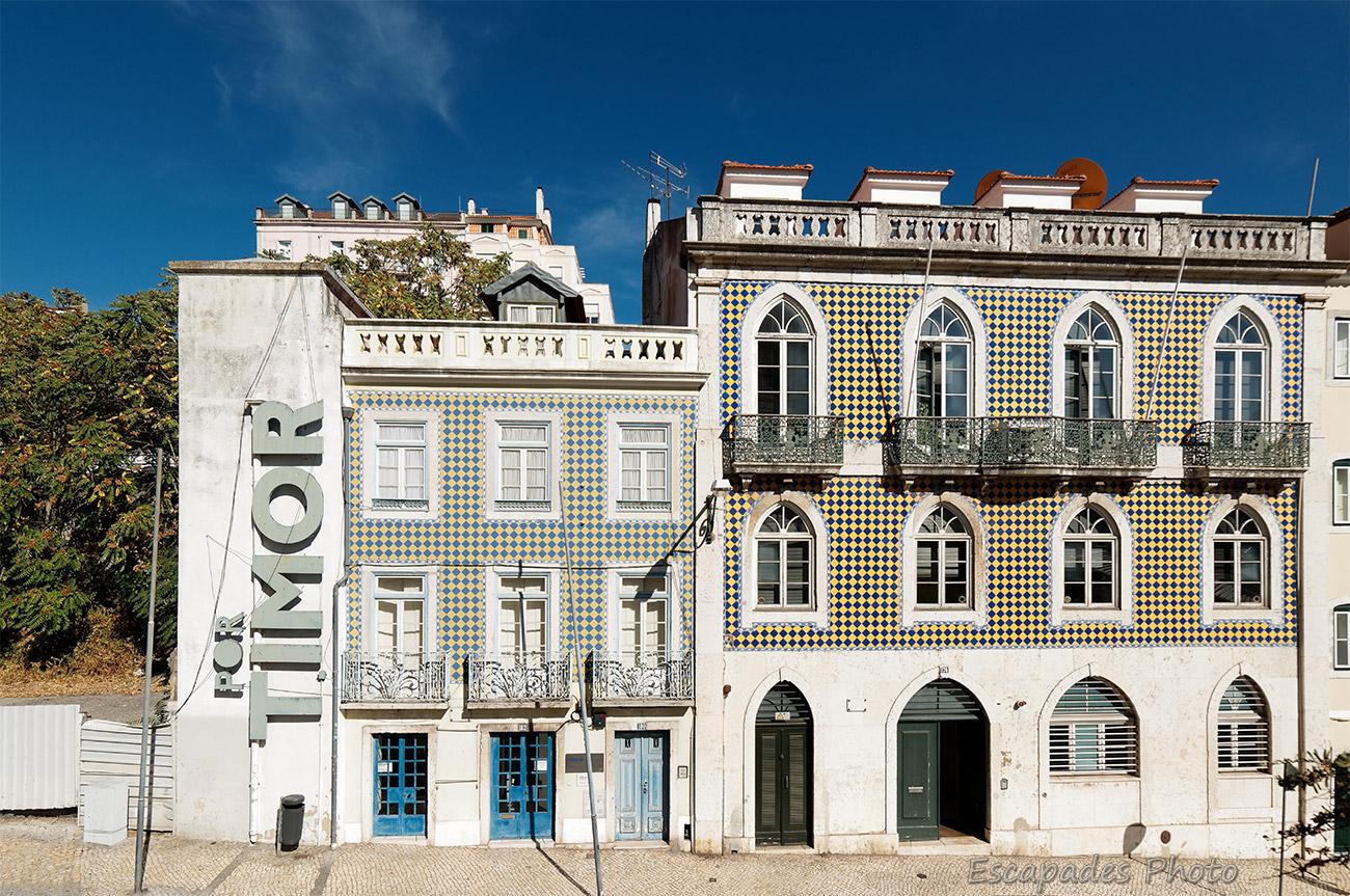 Azulejos de la bibliothèque Port Timor à Lisbonne.