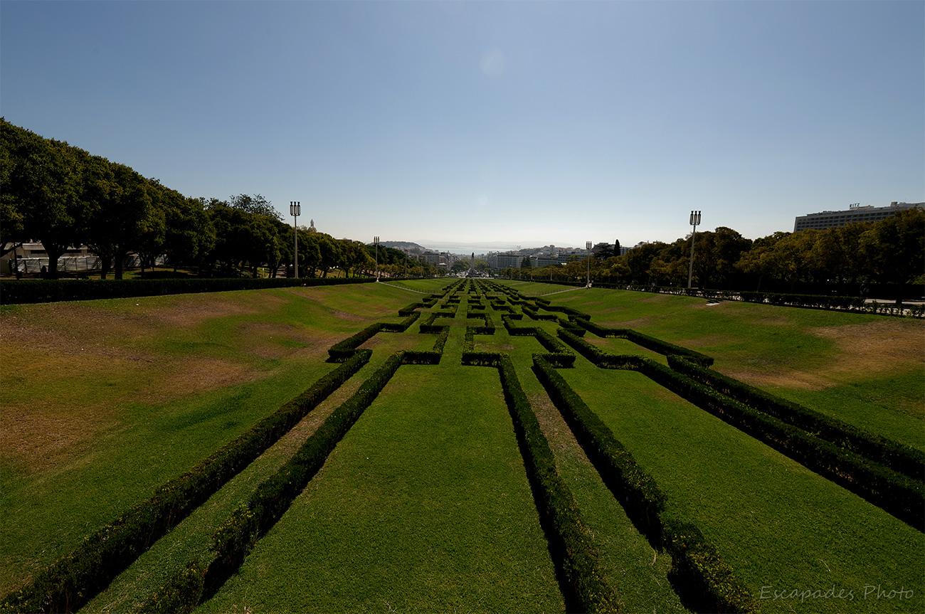 Parc Édouard VII - vue sur Lisbonne et le Tage