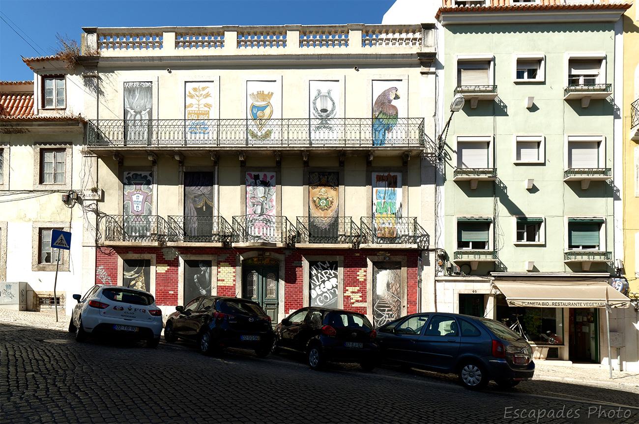 Décor urbain Praça da Alegria à Lisbonne