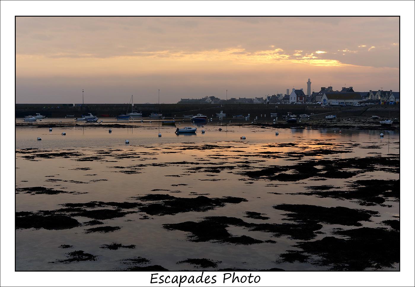 Saint-Pierre vu de Kerity : Un coucher de soleil