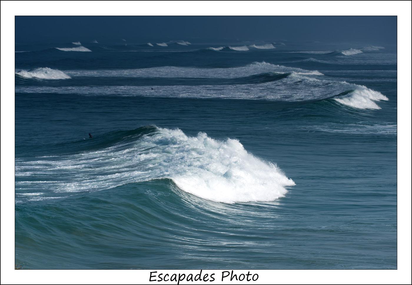 Pointe de la Torche, vagues sur le spot de surf
