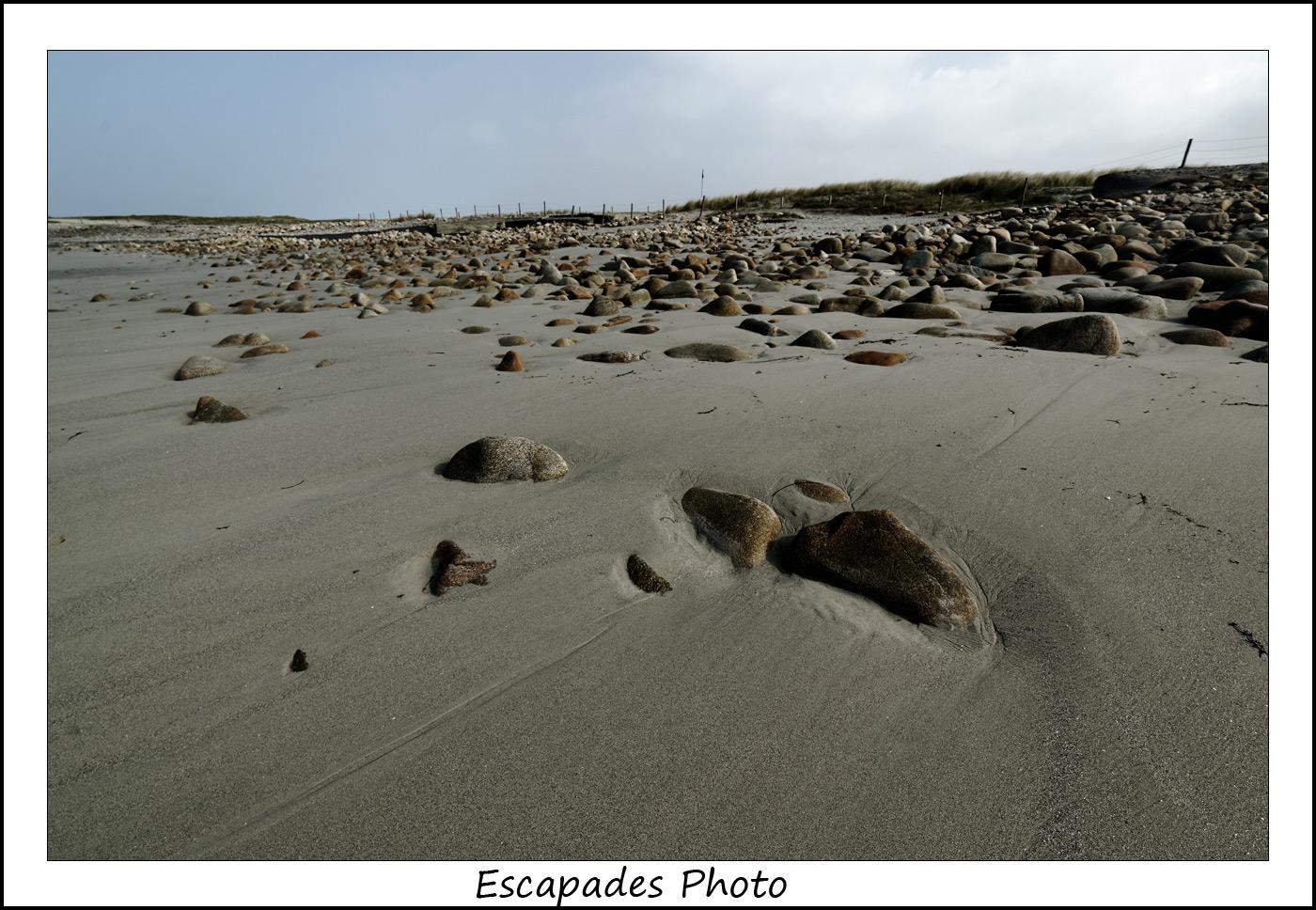 Plage de Pors Carn - galet et sable blanc en baie d'Audierne