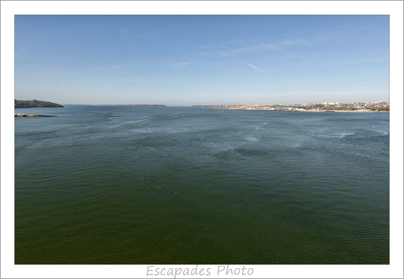 Rade de Brest vue du Pont Albert Louppe
