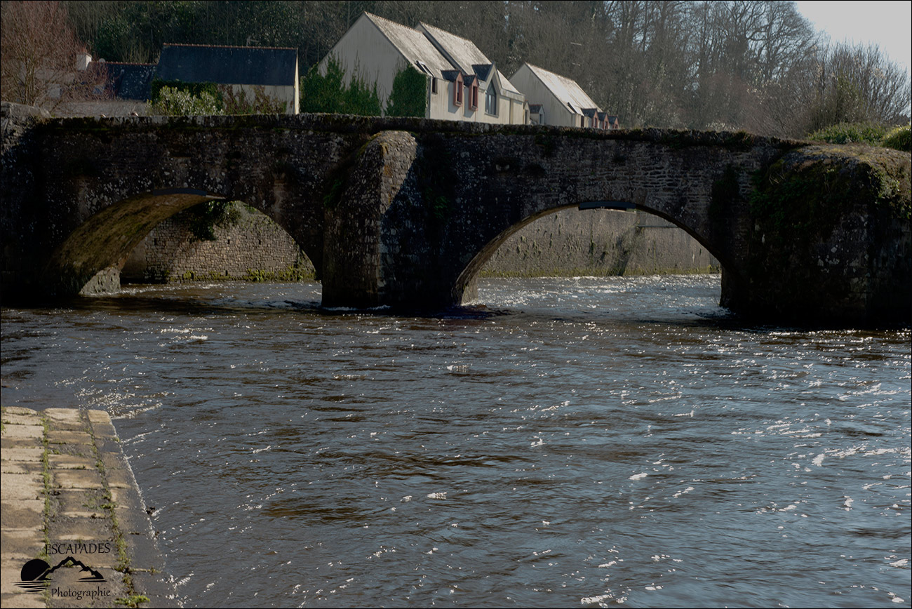 Pont Lovignon dit pont Fleuri à Quimperlé