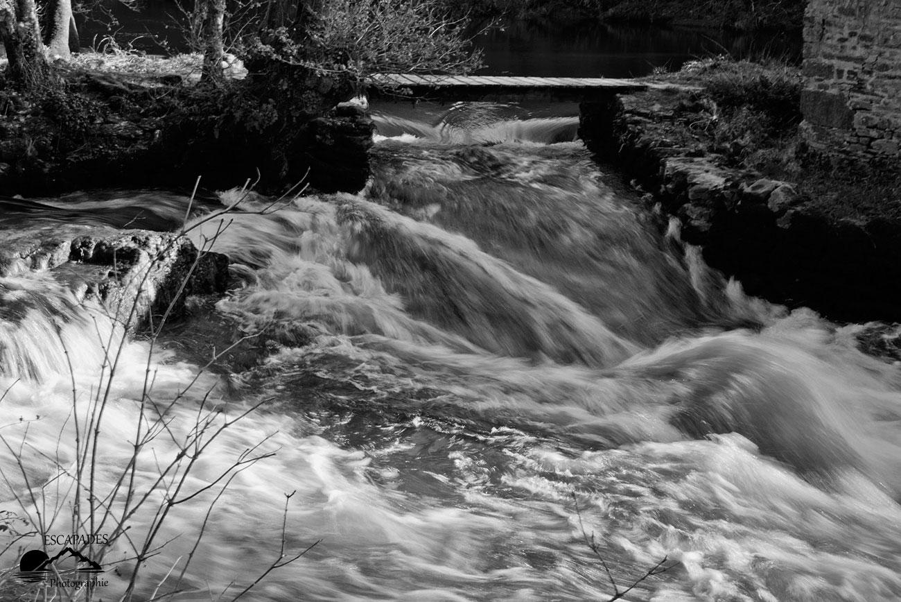 Moulin du Fourden : le bief en hiver